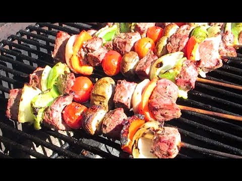 Kebabs - Grilled Marinated Steak Kebabs