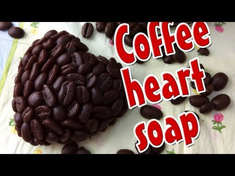How to make coffee heart soap - DIY Soap molds