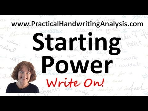 Personality from  Handwriting Signature – Starting Power (Graphology)