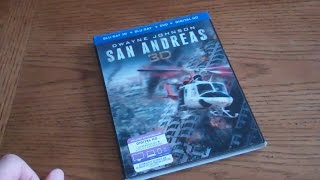 San Andreas - 3d Blu-ray   Bluray   Dvd   Digital Copy Unboxing