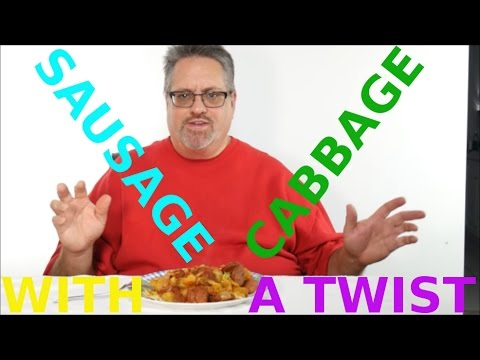 How to Make Sausage with Cabbage and Onions