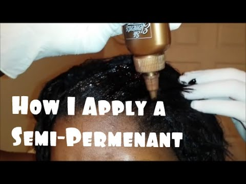 How I Apply my Temporary Semi Permanent Hair Color Rinse