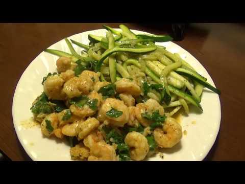 Lemon and Chili Shrimp with Garlic Zucchini Noodles