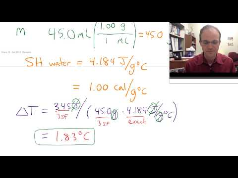 Solving a specific heat problem with water