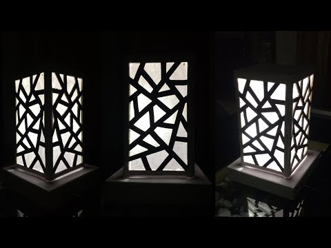 How to make a night lamp easy   lampshade   lighting idea   homemade lamp   By Dots DIY