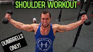 Intense 5 Minute Dumbbell Shoulder Workout #2