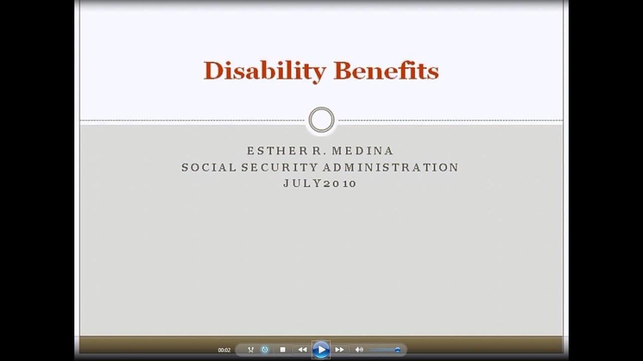 Social Security: Disability Benefits Webinar