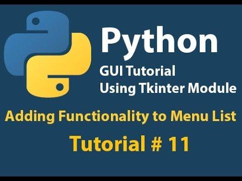 Python GUI: Adding Event to menu list Tutorial# 11