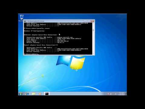 Using IPCONFIG in Windows 7