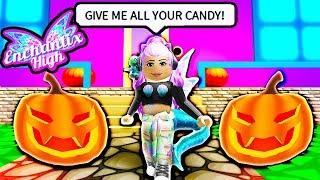🎃 TRICK OR TREAT 🎃 Roblox Enchantix High School for Fairies & Mermaids 🎃 HALLOWEEN REALM 🎃