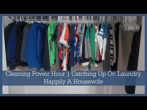 CLEANING POWER HOUR | CATCHING UP ON LAUNDRY