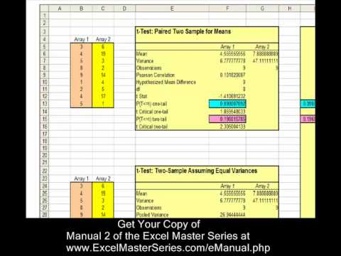 How You Can Be an Excel Statistical Master - Manual 2