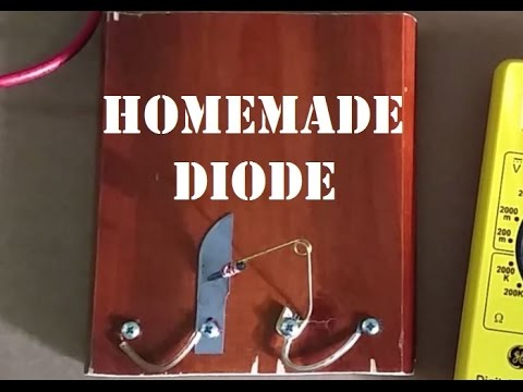 Homemade Diode from a Razor Blade