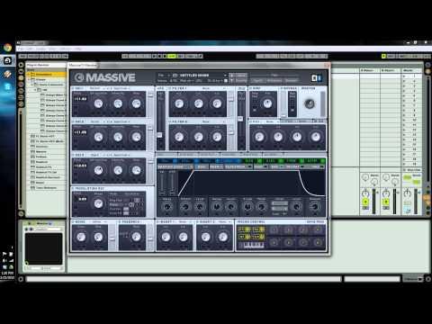 Native Instruments MASSIVE Dubstep Bass Tutorial - Datsik