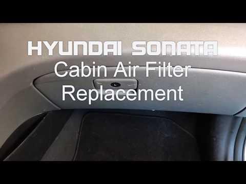 Hyundai Sonata Cabin Air Filter Replacement