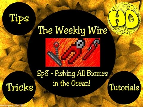 Terraria: The Weekly Wire Ep8 - Fishing All Biomes from the Ocean!