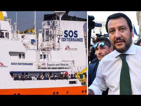 EU REBELLION Italy TURNS AWAY refugee boat carrying 600 migrants from North Africa
