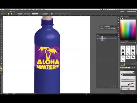 How to place a label on a bottle in Illustrator