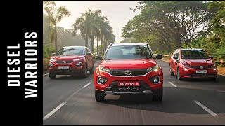 Diesel Warriors - Tata Harrier, Nexon & Altroz on a road trip | Branded Content | Autocar India