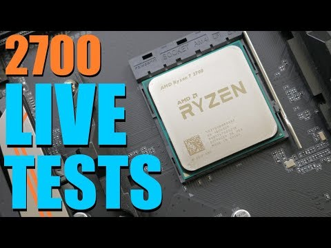 Does Overclocking the Ryzen 7 2700 Hurt Game Performance? Live VOD