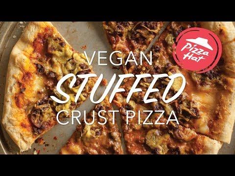 VEGAN STUFFED CRUST PIZZA | Vegan Pizza Hut Recipe | The Edgy Veg
