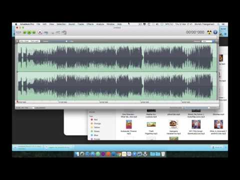How to trim or split or join audio on Mac OS X?