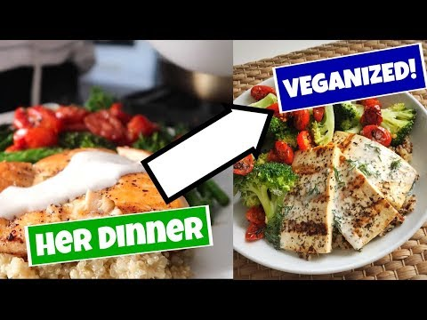 Veganizng my Favorite YouTuber's DINNER | Allana Davison recreation