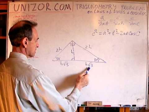 Unizor - Trigonometry - Problems Laws of Sines and Cosines