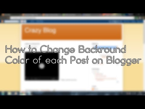 How to change Backround Color of each post on Blogger