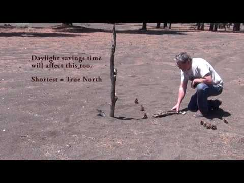 How to make a camp sundial.
