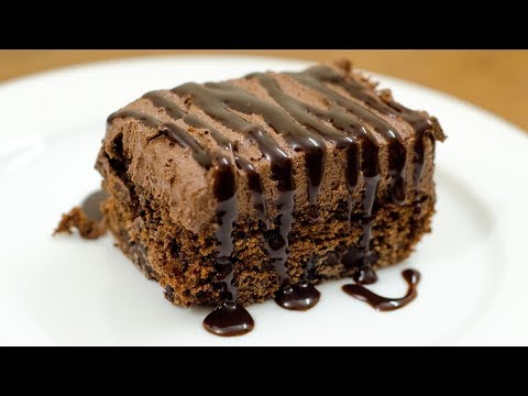 EGGLESS CHOCOLATE CHUNK MOUSSE BROWNIE I WITHOUT OVEN