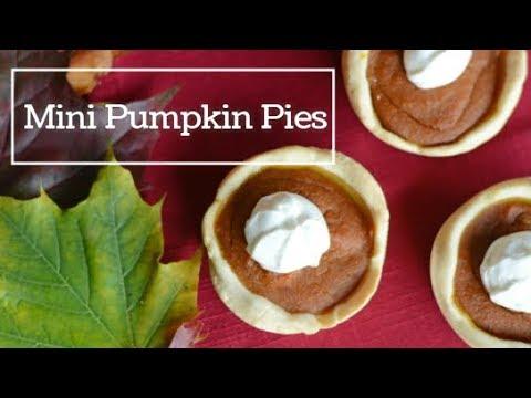 Dairy Free, Egg Free Mini Pumpkin Pies