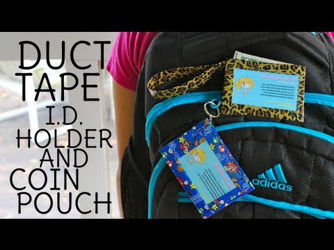 Back To School: Duct Tape Coin Pouch and I.D. Holder! (+GIVEAWAY)
