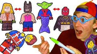Coloring LEGO 😲 Wrong Heads Matching Game