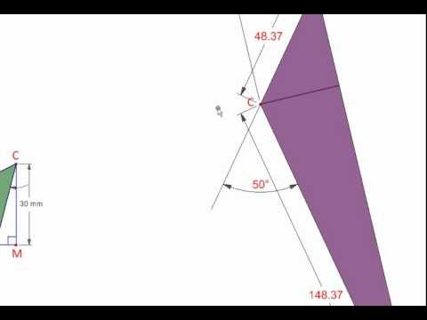 Geometry with MicroStation Triangle from Altitude Vertex Angle Sum of Sides - II