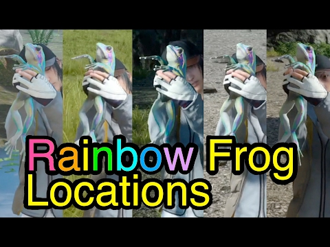 Final Fantasy XV: Rainbow Frog Locations (Side Quest: The Frogs of Legend)