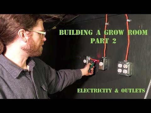 Building a Grow Room Part 2 - electricity and outlets