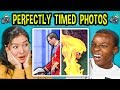 10 PERFECTLY TIMED PHOTOS W Teens 2 React