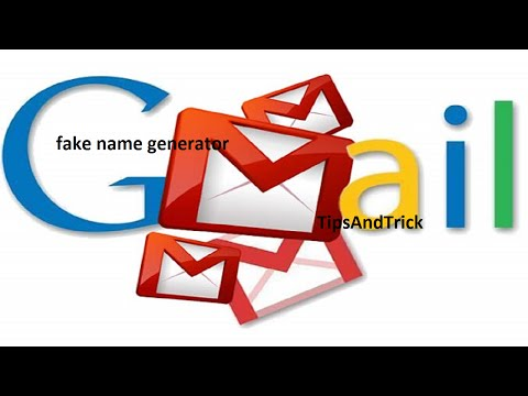 How to create gmail by using fake name generator tips and topic video no 1