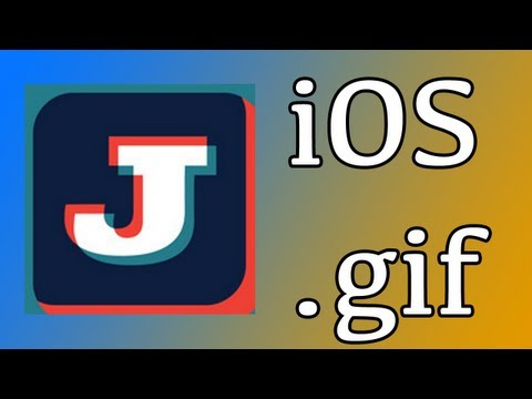 How to make a .gif moving picture on - iPad - iPhone - iPod touch - using Jittergram