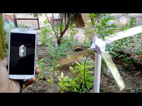 How To Make A mini windmill Generator