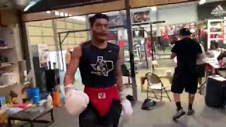 Seconds after sparring Vergil Ortiz hector Tanajara shares his thoughts