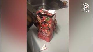OMG! Disgusting blob found in a Liqui-Fruit juice box