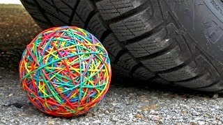 Download Crushing Crunchy & Soft Things by Car! EXPERIMENT CAR VS RUBBER BAND BALL Video