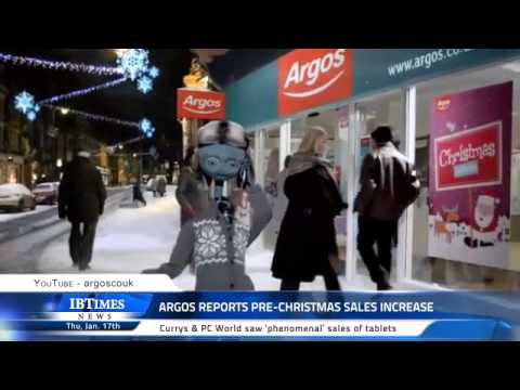 Argos reports pre-Christmas sales increase