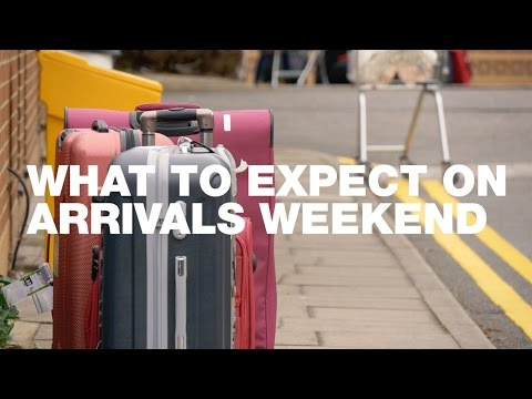 What to Expect on Arrivals Weekend
