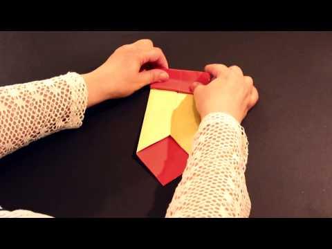 DIY: How to make easy love letter (origami)اوريجامى : ظزف على شكل قلب