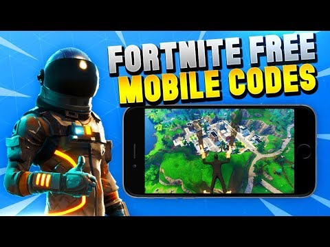 FORTNITE MOBILE!!! GIVING OUT FREE CODES!!!!!! (NOT CLICKBAIT!!)