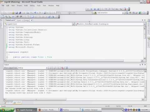 Visual Studio Registry Programming