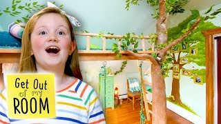 Indoor TREEHOUSE Room Transformation!   Get Out Of My Room   Universal Kids